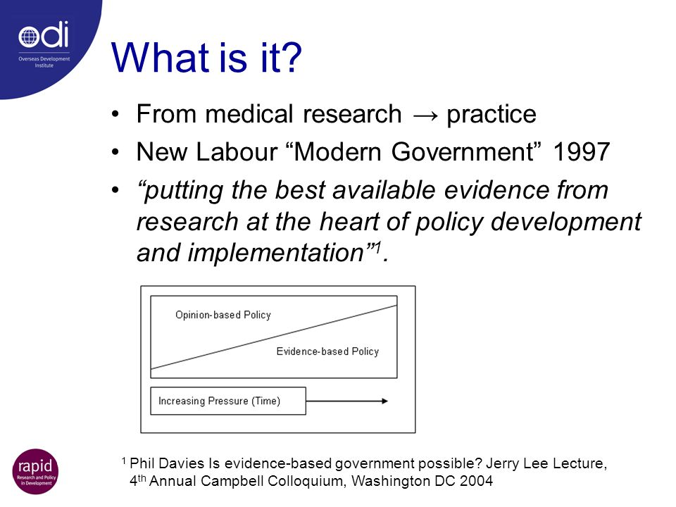 What is it From medical research → practice