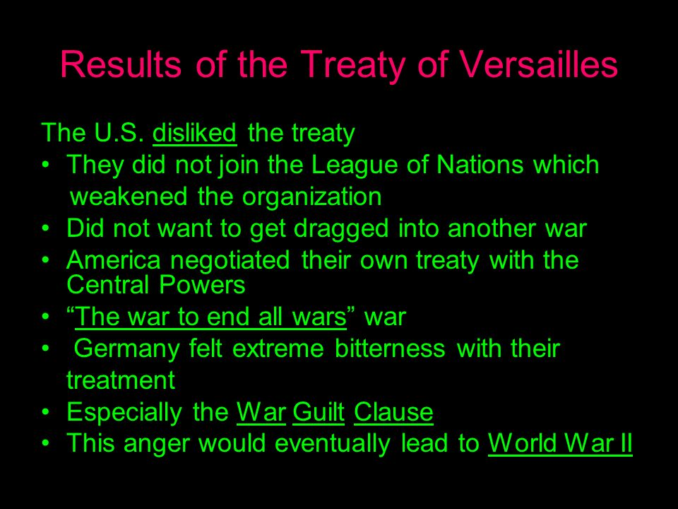 the treaty of versailles that ended world war ii The treaty of versailles was an agreement signed to end _____ aworld war i bworld war ii cthe cold war dthe vietnam conflict.