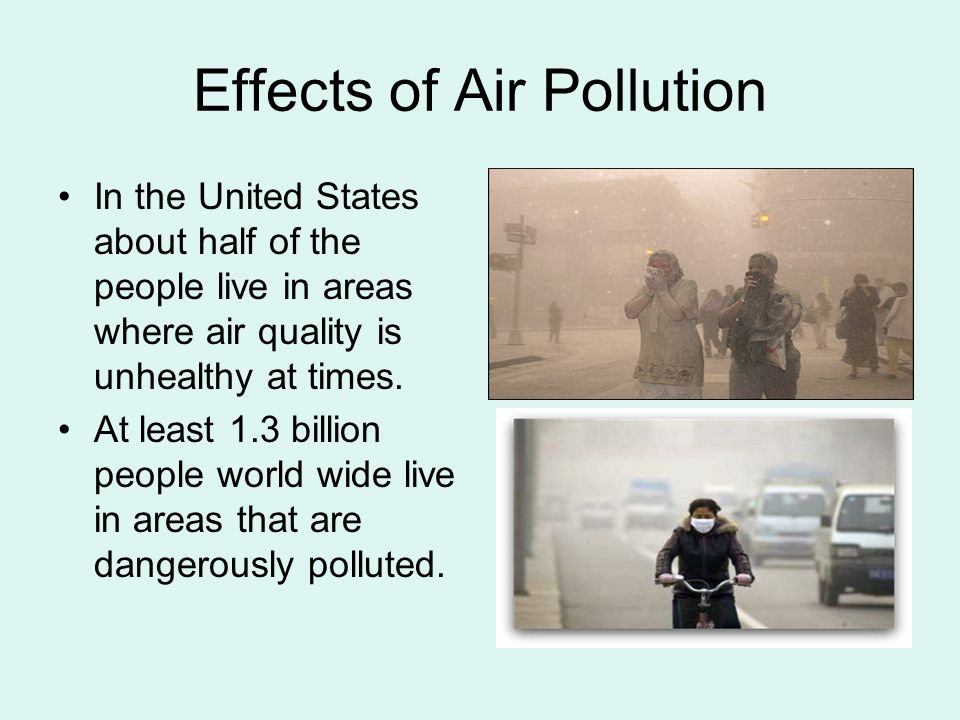 Affects of daily air pollution on
