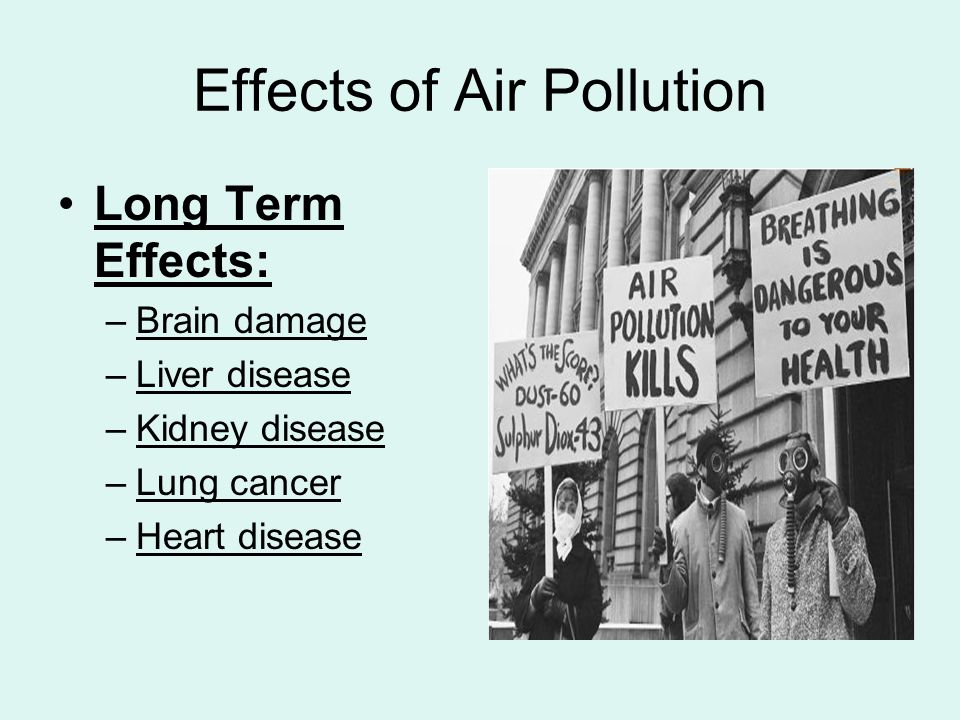 foreign study of effects of air pollution