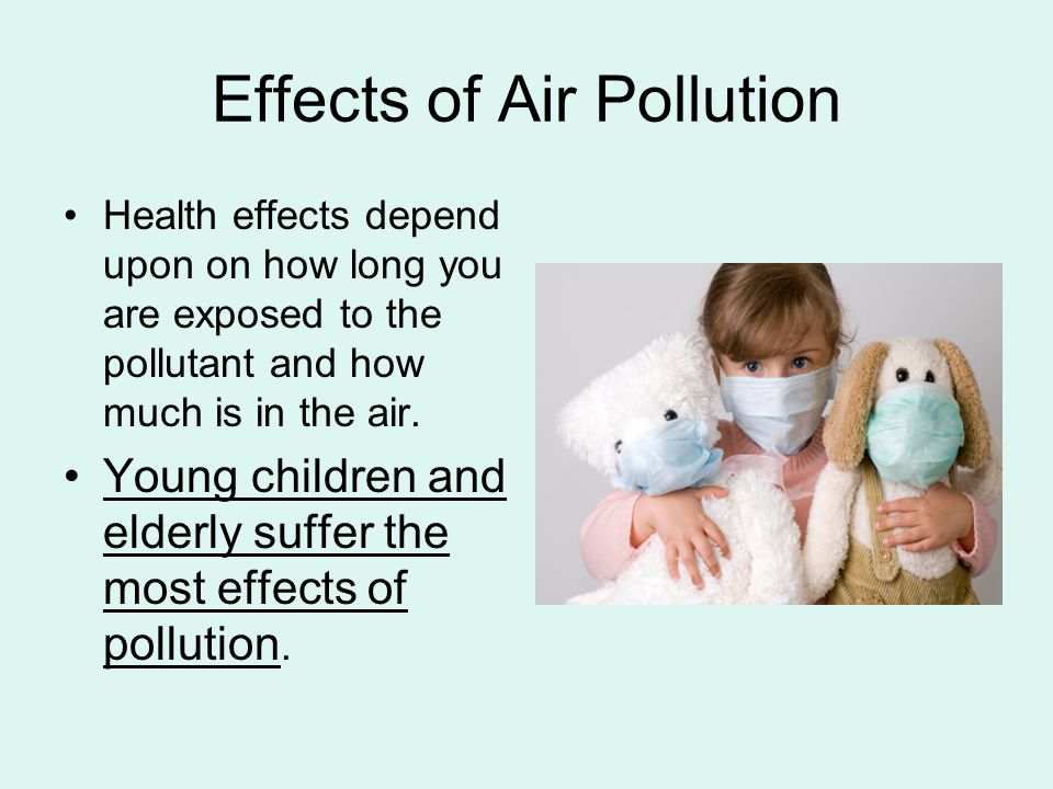 health effects of air pollution Below, you will find information on air pollution health effects research since the year 2000 you can also view all health-related research projects, ongoing and completed, in our research projects database.
