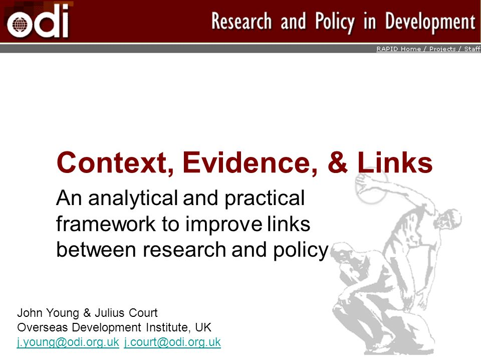 Context, Evidence, & Links