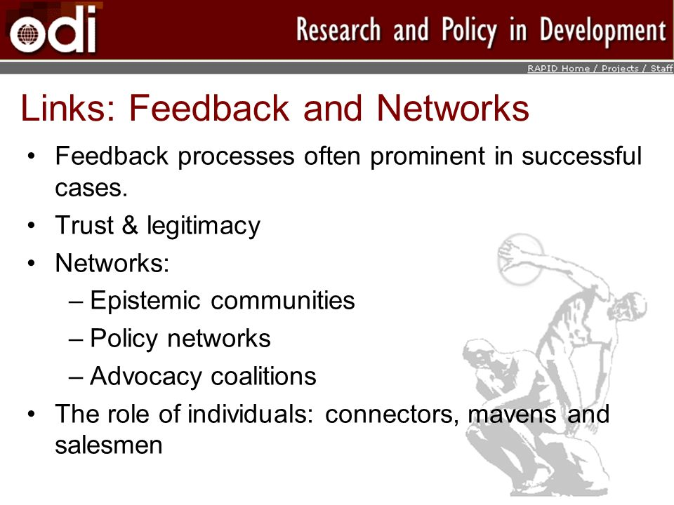 Links: Feedback and Networks