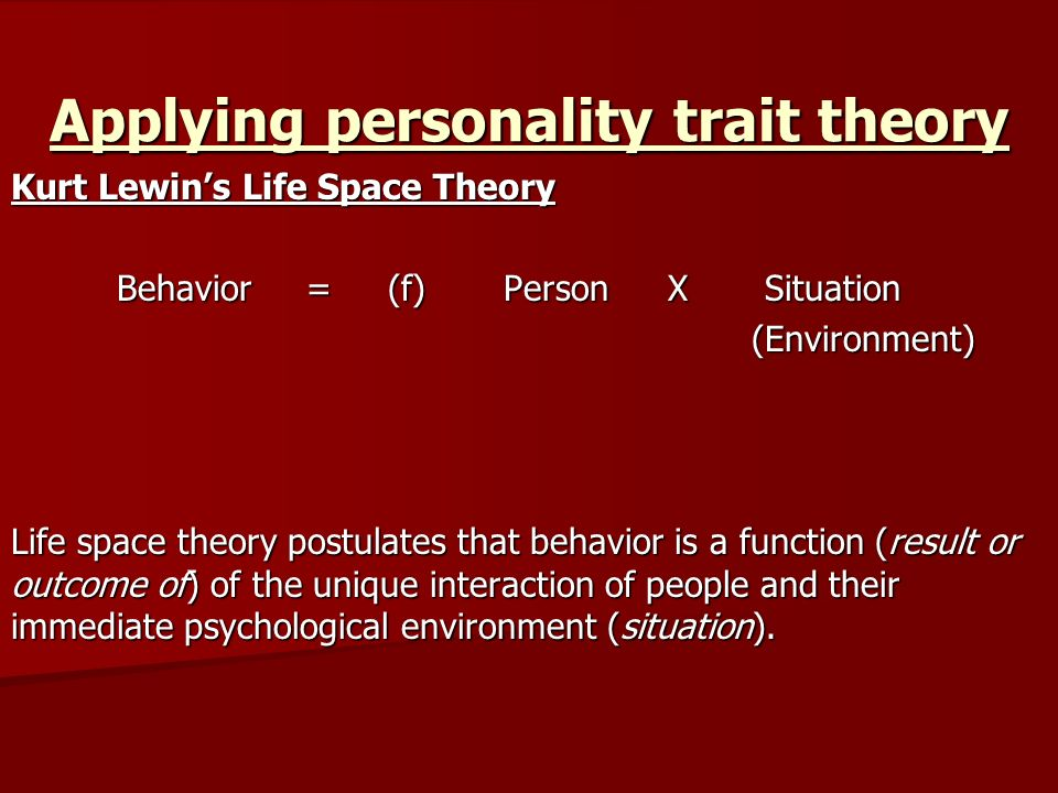 person situation interaction theory
