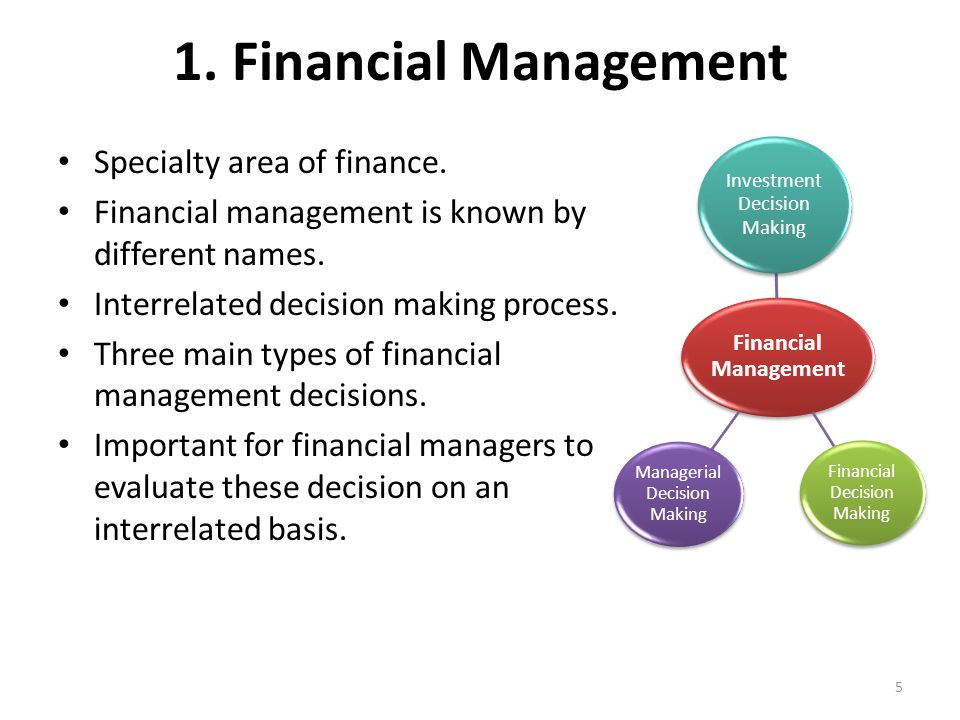 types of financial management decisions Financial management is concerned with the managerial decisions that result in the acquisition and financing of short term and long term credits for the firm here it deals with the situations that require.