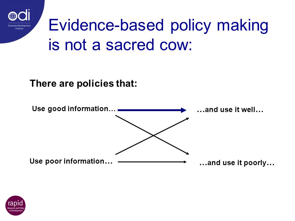 Evidence-based policy making is not a sacred cow: