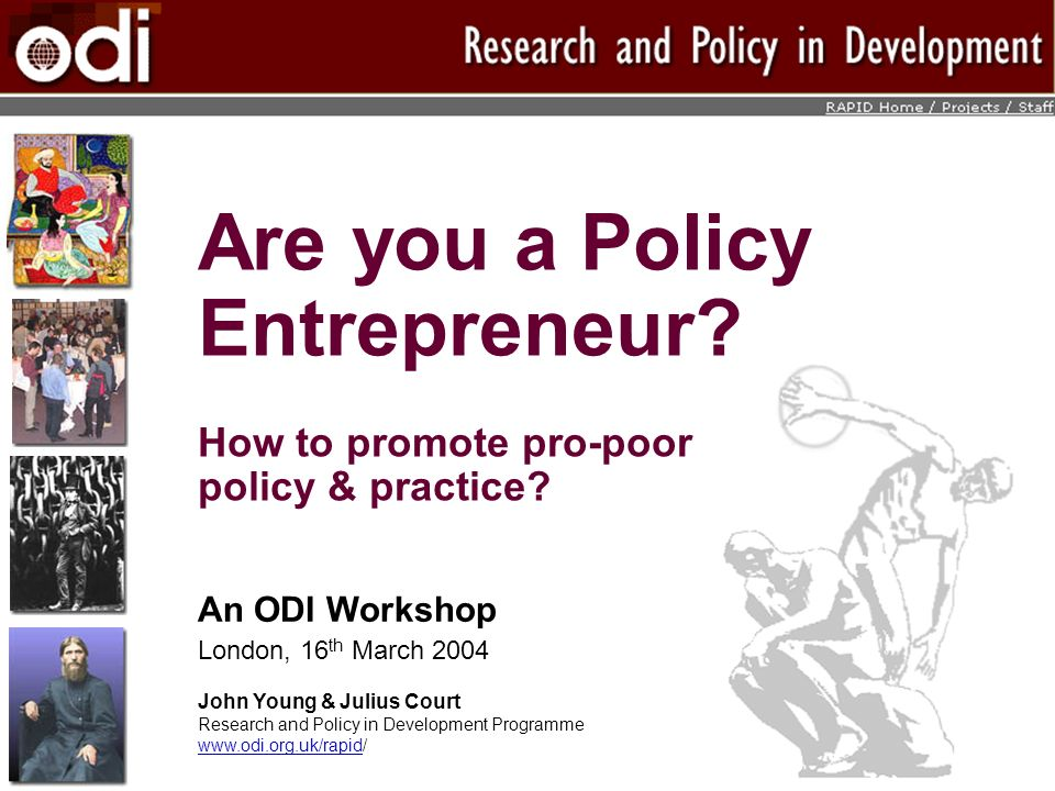 Are you a Policy Entrepreneur