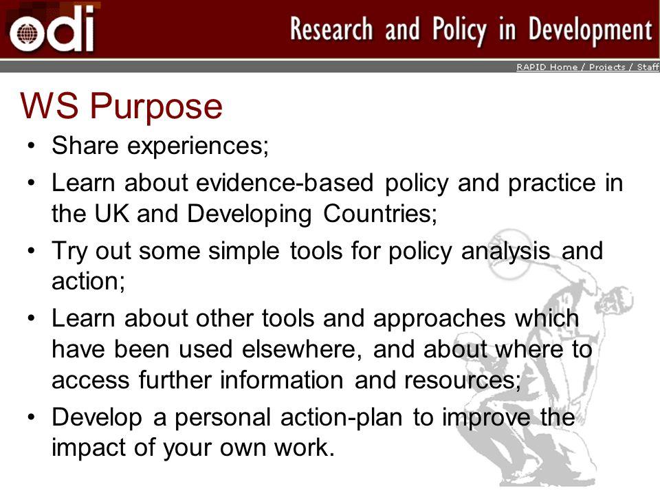 WS Purpose Share experiences;