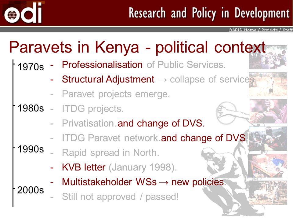 Paravets in Kenya - political context