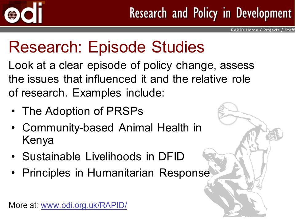 Research: Episode Studies