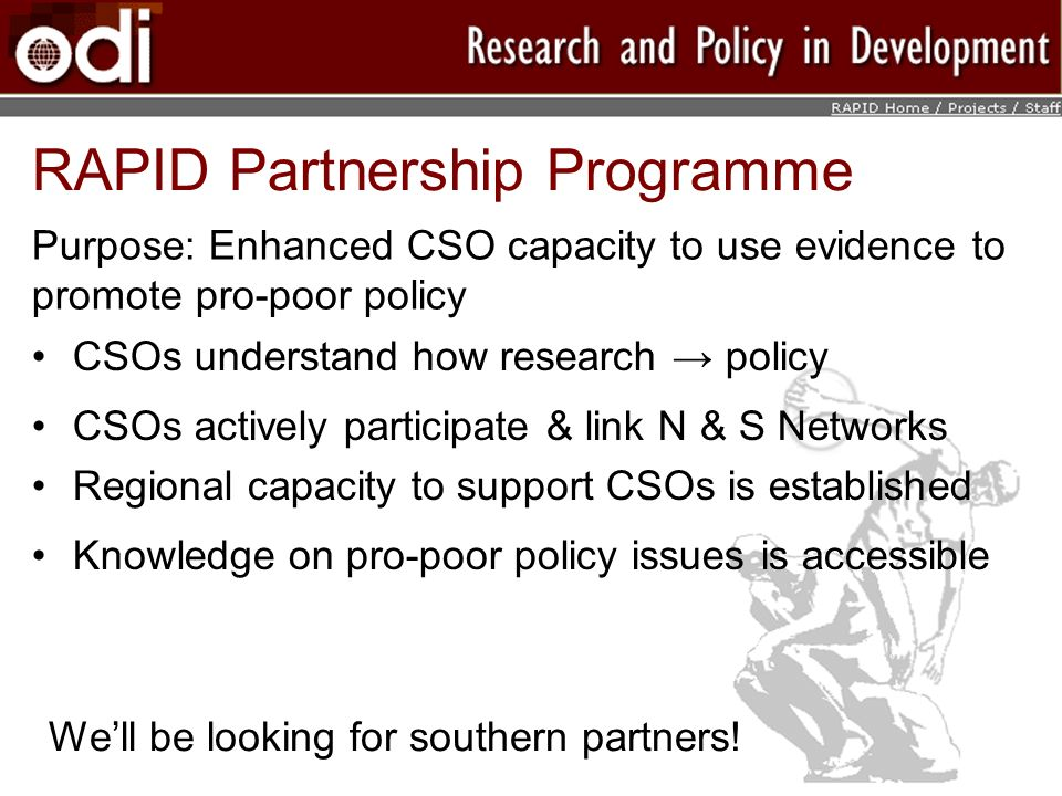RAPID Partnership Programme