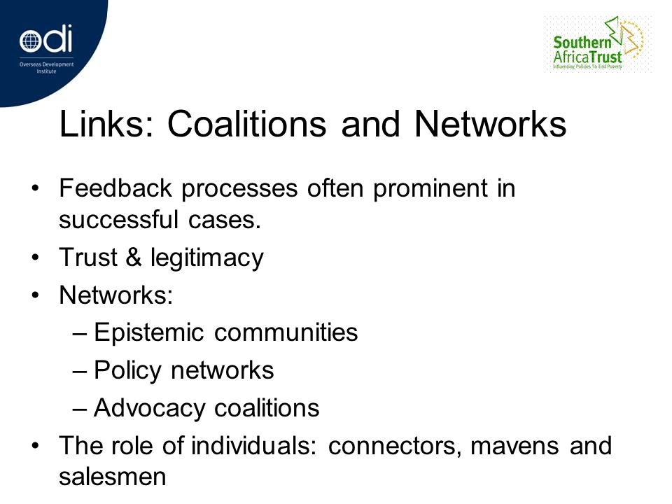 Links: Coalitions and Networks