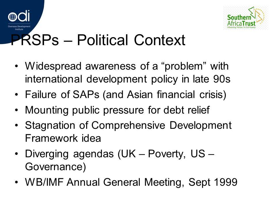 PRSPs – Political Context
