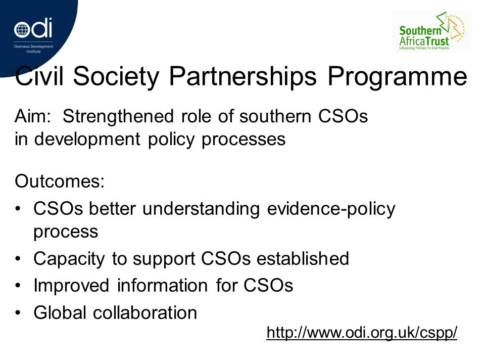 Civil Society Partnerships Programme