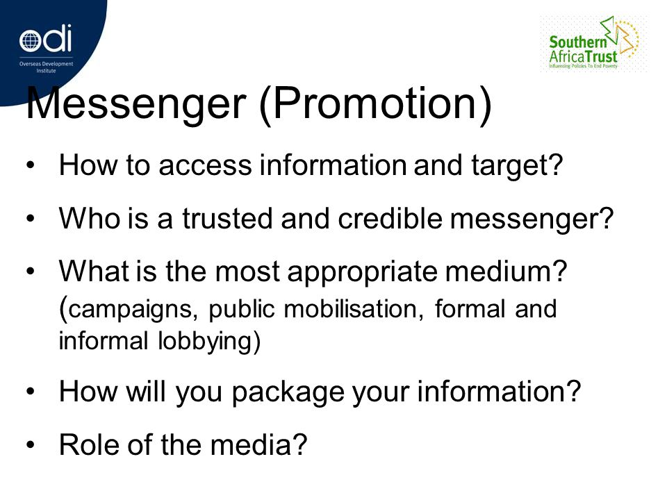 Messenger (Promotion)