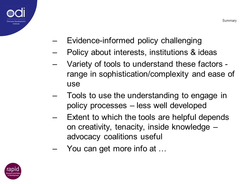 Evidence-informed policy challenging