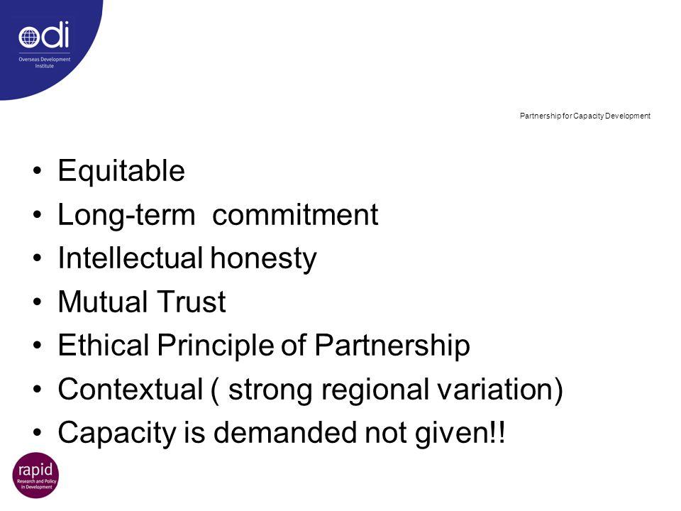 Partnership for Capacity Development