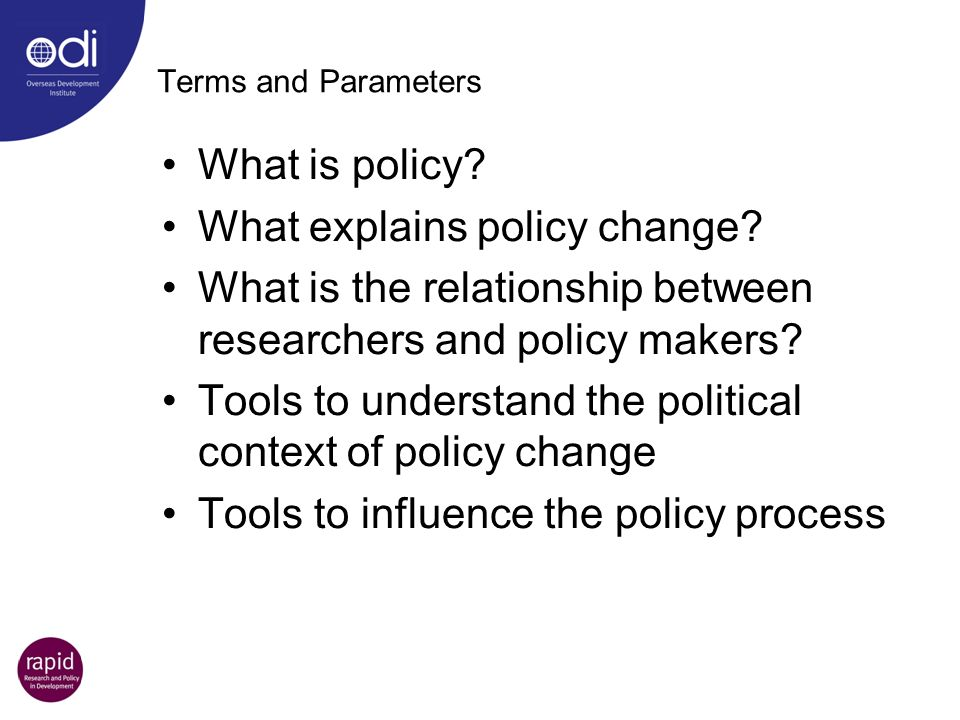What explains policy change