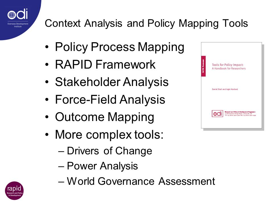 Context Analysis and Policy Mapping Tools