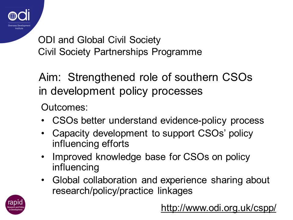 ODI and Global Civil Society Civil Society Partnerships Programme