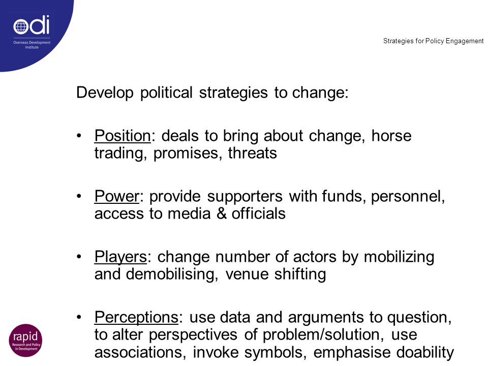 Strategies for Policy Engagement