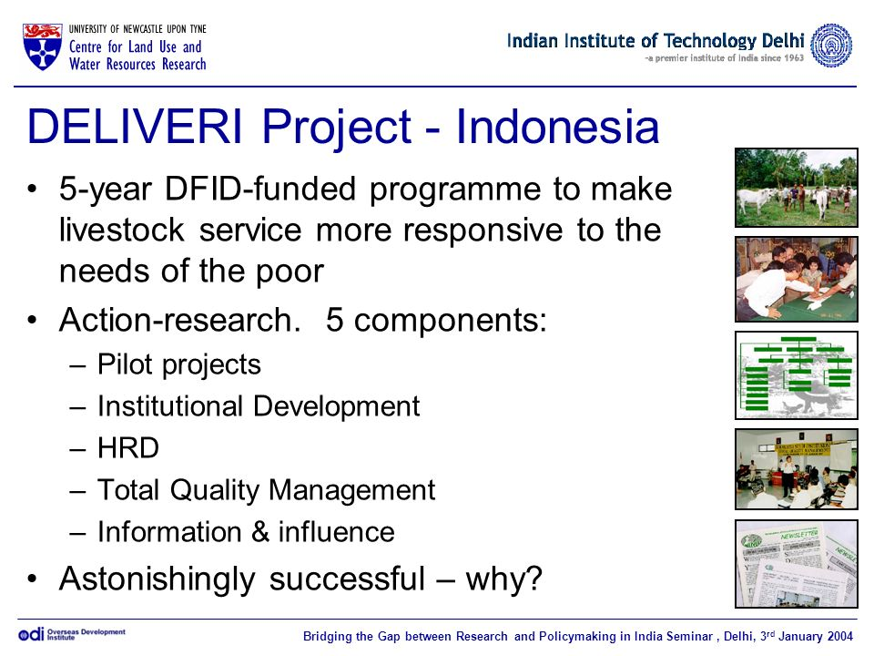DELIVERI Project - Indonesia