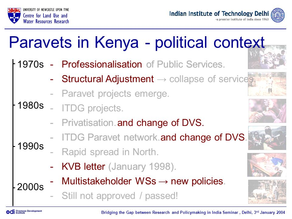 Paravets in Kenya - political context