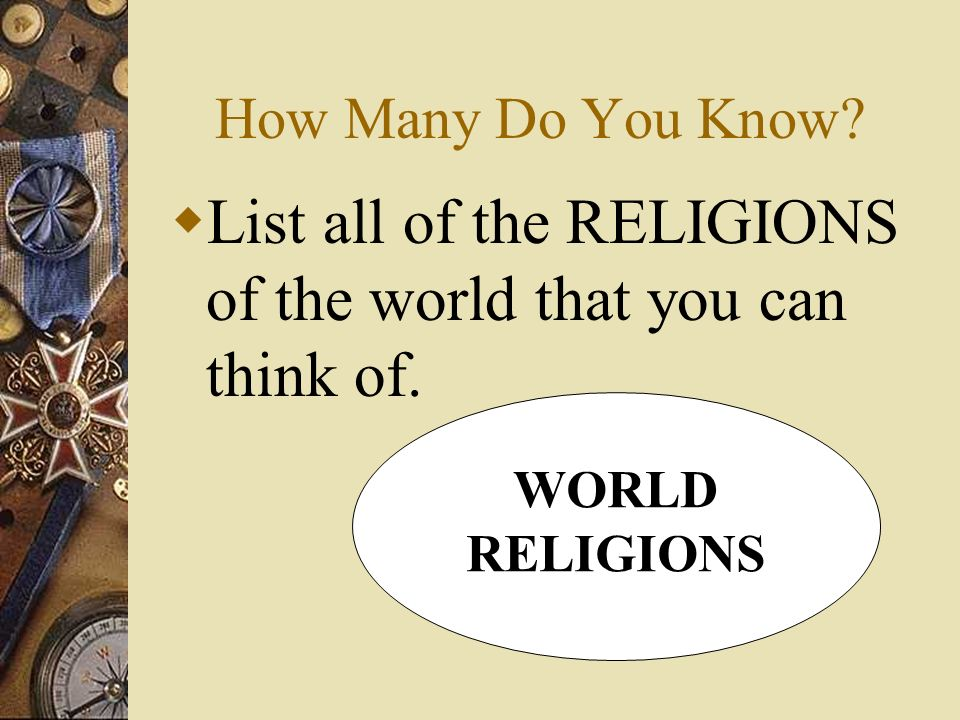 The Major Religions Of The World Ppt Video Online Download - List of different religions in the world
