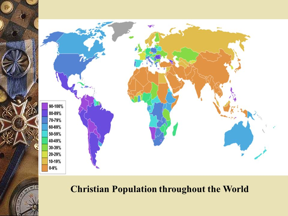 The Major Religions Of The World Ppt Video Online Download - Christian population around the world