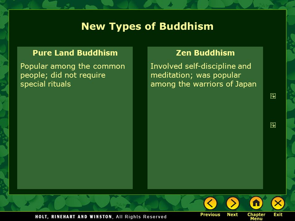 New Types of Buddhism Pure Land Buddhism