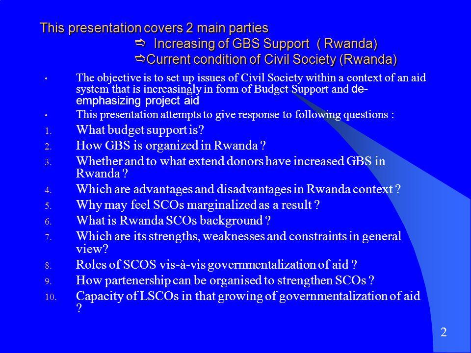 How GBS is organized in Rwanda