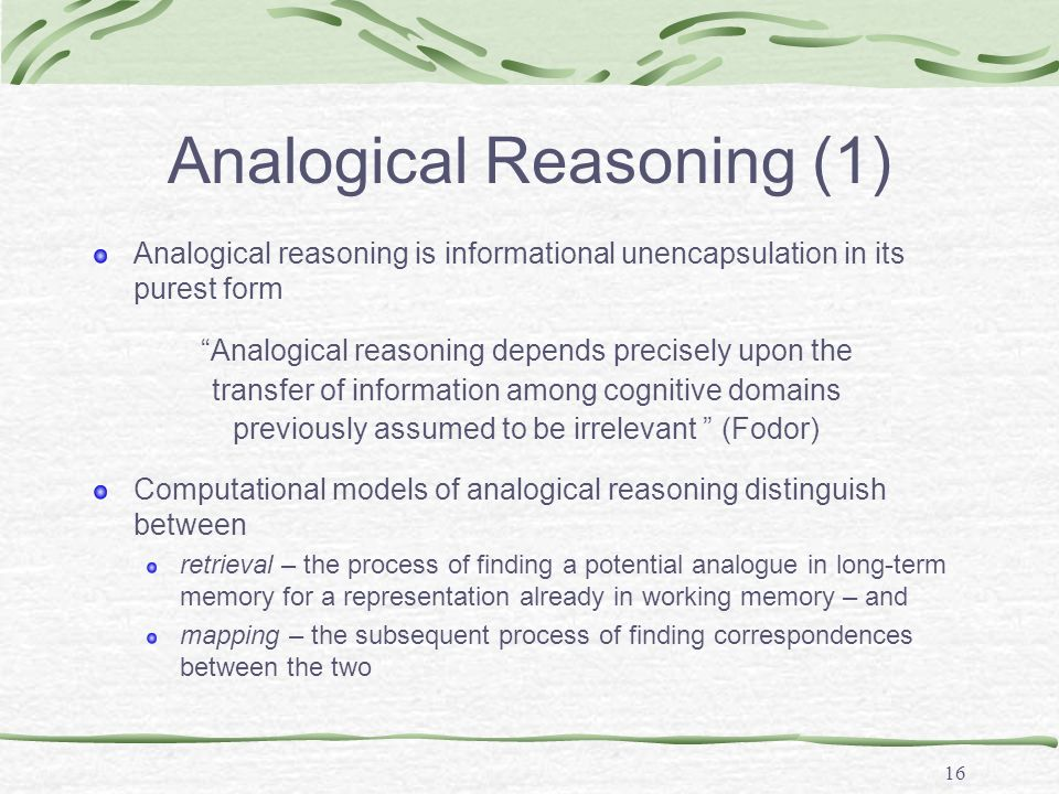 Analogical Reasoning (2)