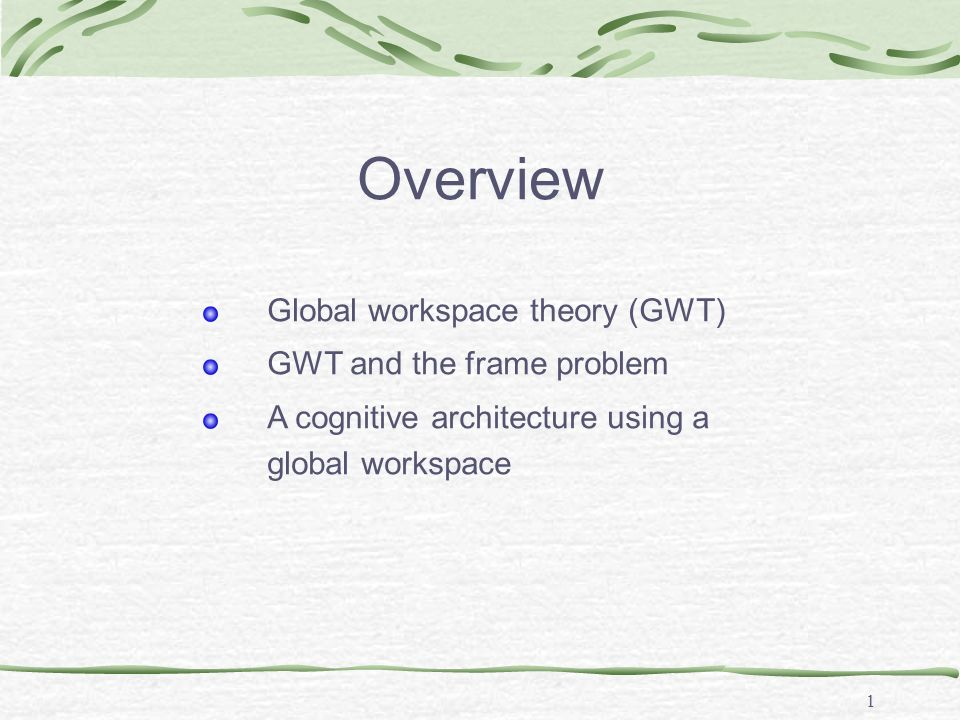 Global Workspace Theory