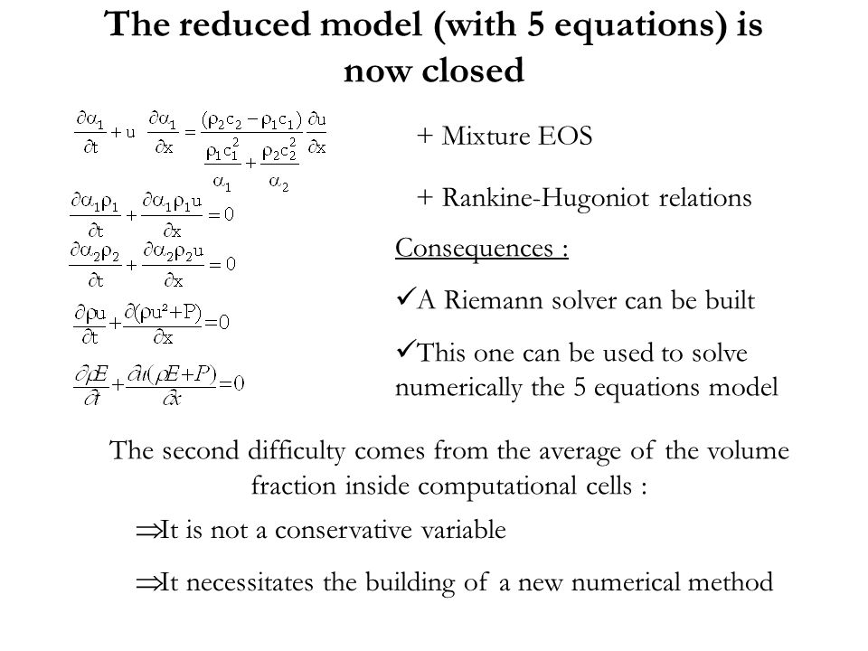 The reduced model (with 5 equations) is now closed