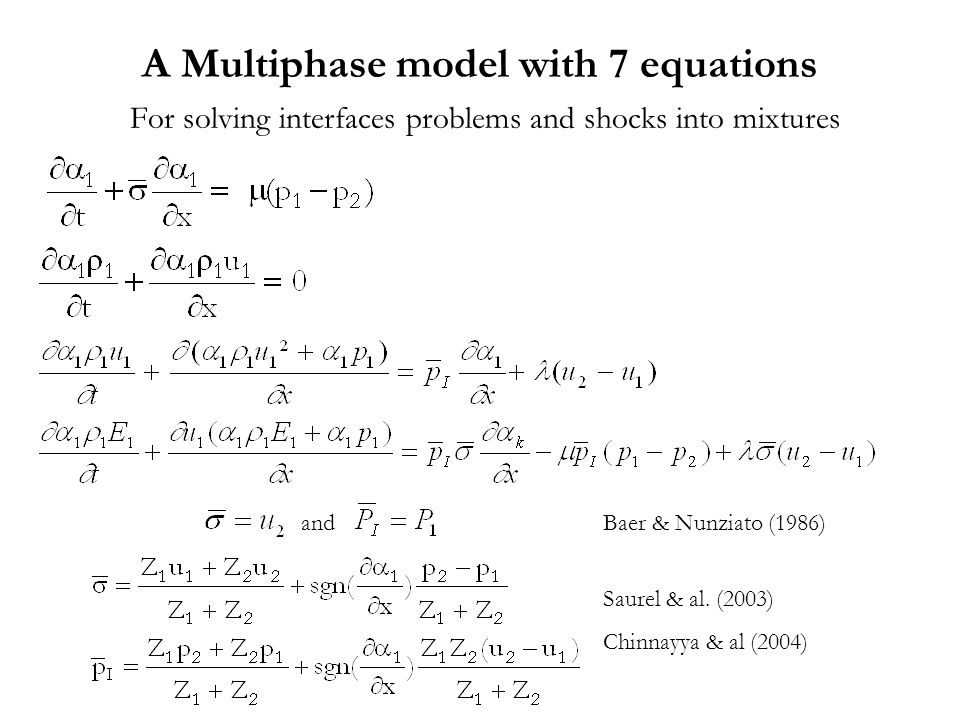 A Multiphase model with 7 equations For solving interfaces problems and shocks into mixtures