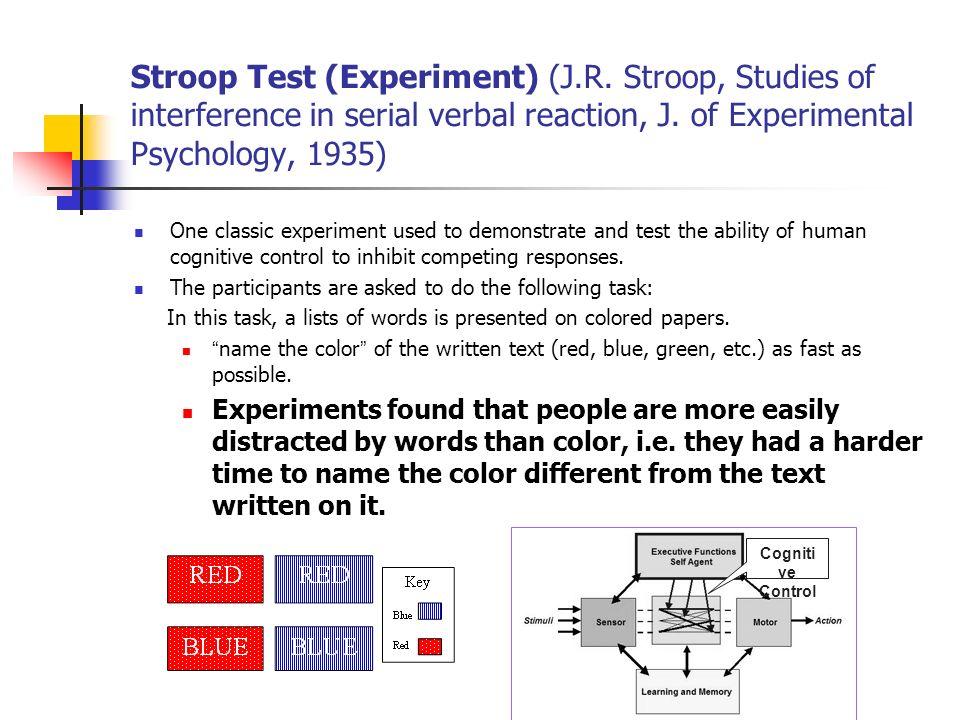 Stroop Test (Experiment) (J. R