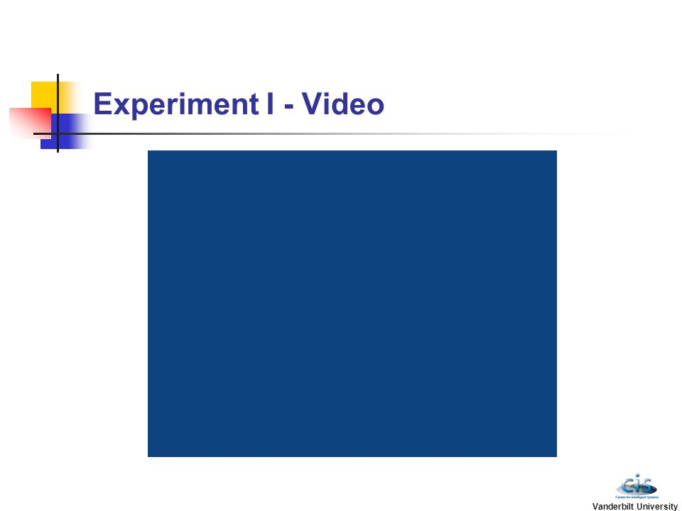 Experiment I - Video Vanderbilt University