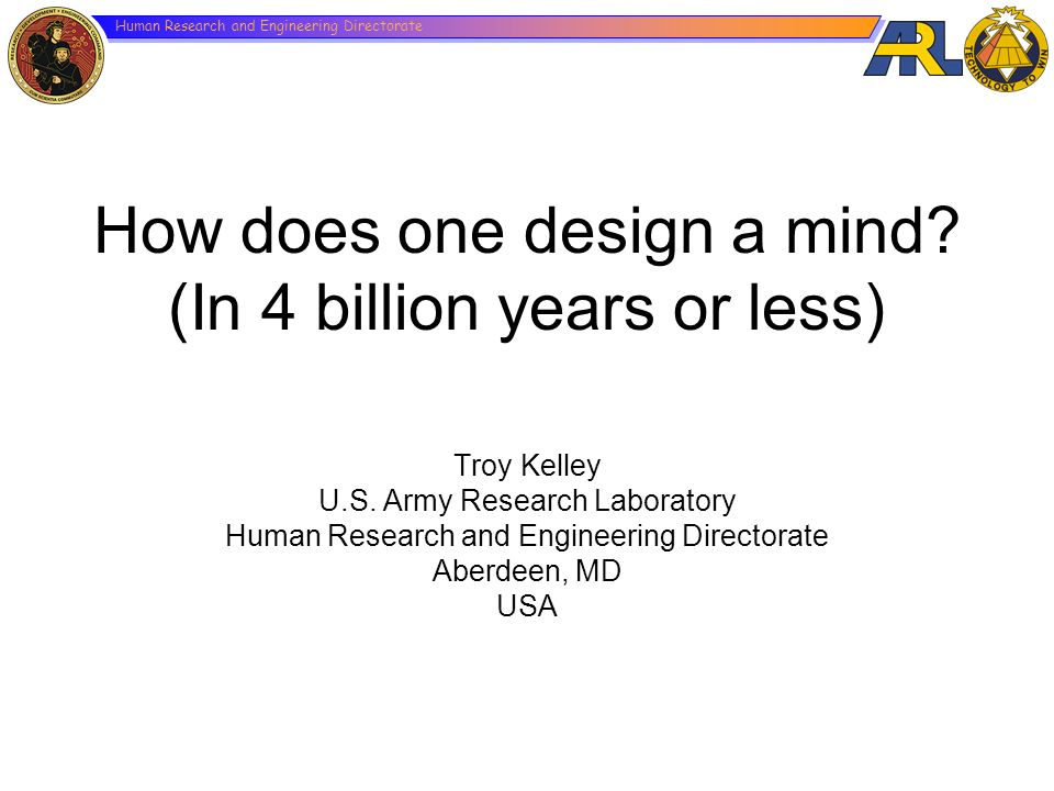 How does one design a mind (In 4 billion years or less)