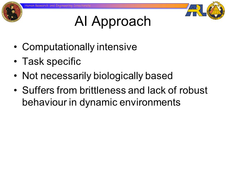 AI Approach Computationally intensive Task specific