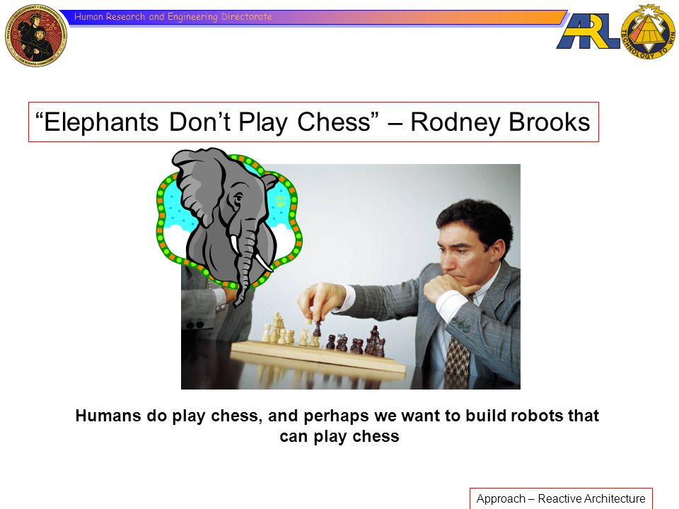 Humans do play chess, and perhaps we want to build robots that