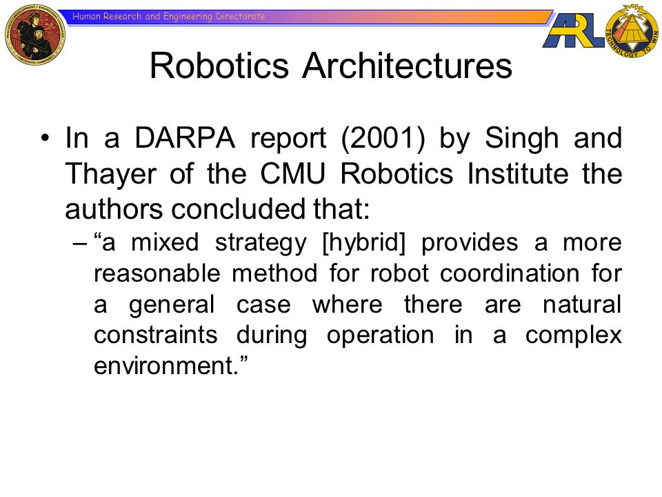 Robotics Architectures