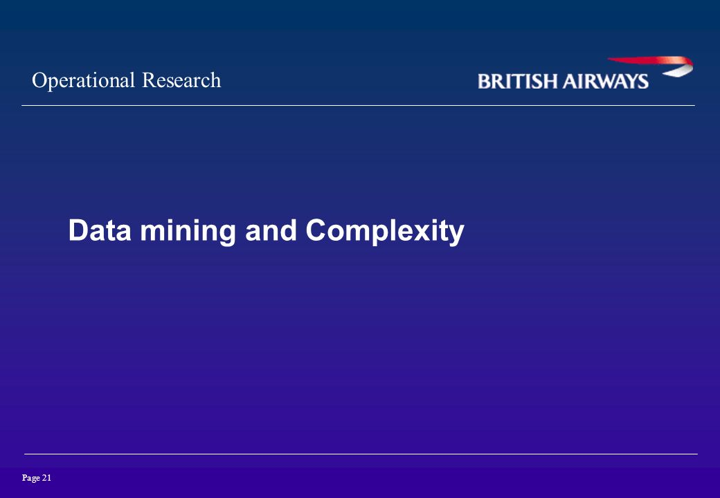 Data mining and Complexity