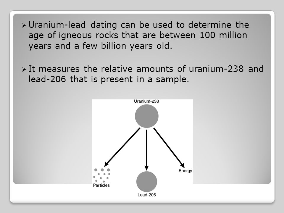 Rocks Dating For Why Used Uranium Is has disused developing