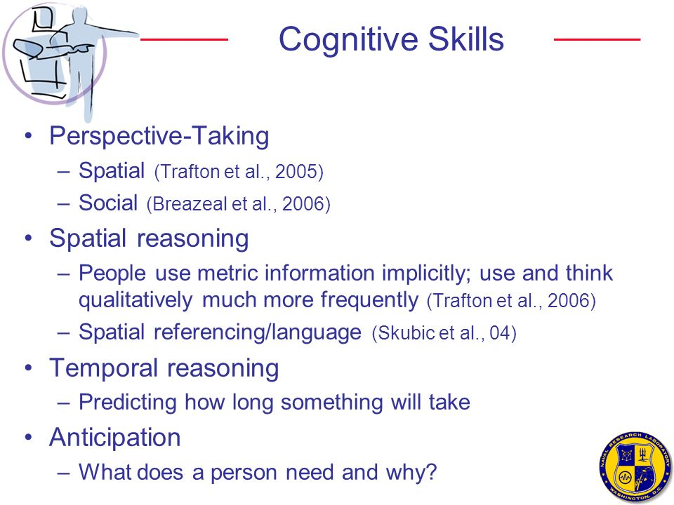 Cognitive Skills Perspective-Taking Spatial reasoning