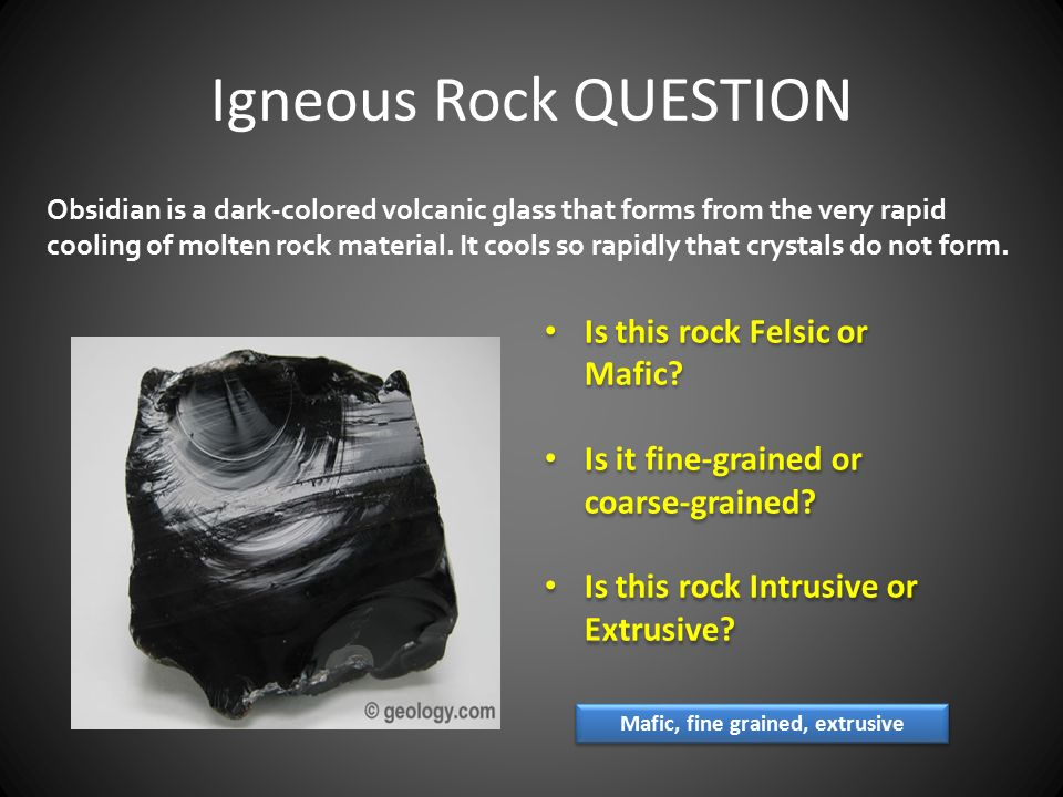 IGNEOUS ROCKS Lava is molten rock found at or near Earth's surface ...