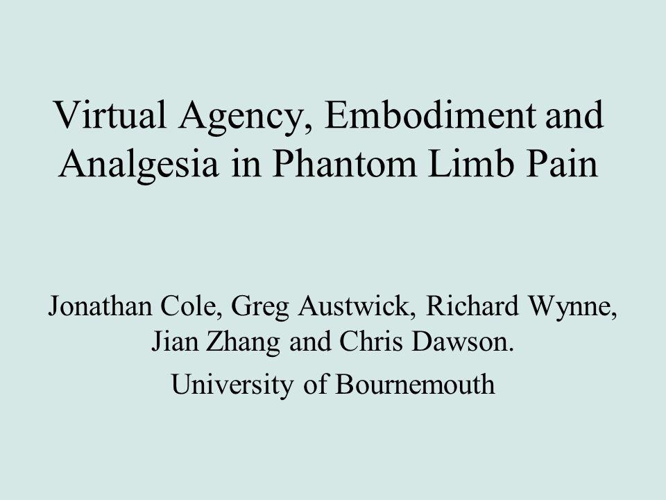 Virtual Agency, Embodiment and Analgesia in Phantom Limb Pain