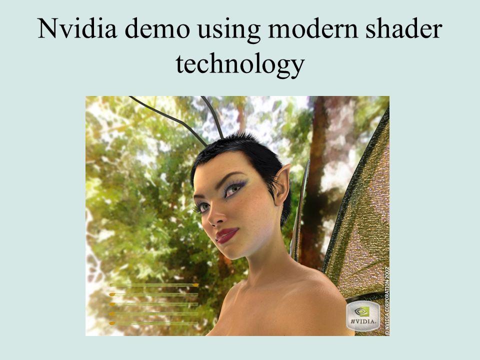 Nvidia demo using modern shader technology