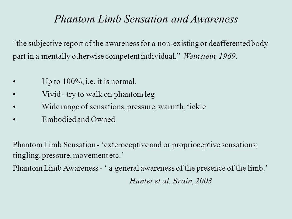 Phantom Limb Sensation and Awareness