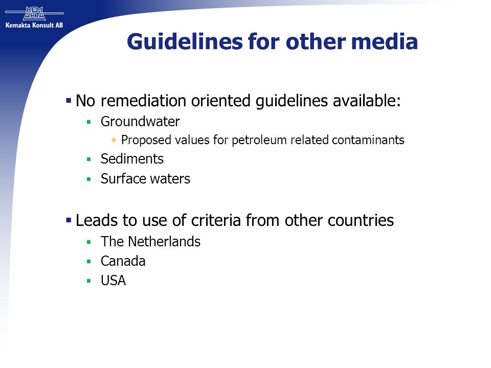 Guidelines for other media