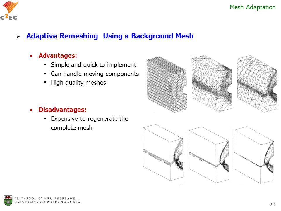 Adaptive Remeshing Using a Background Mesh
